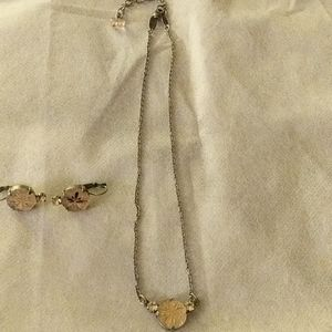 New pendant and earrings set-Sabika